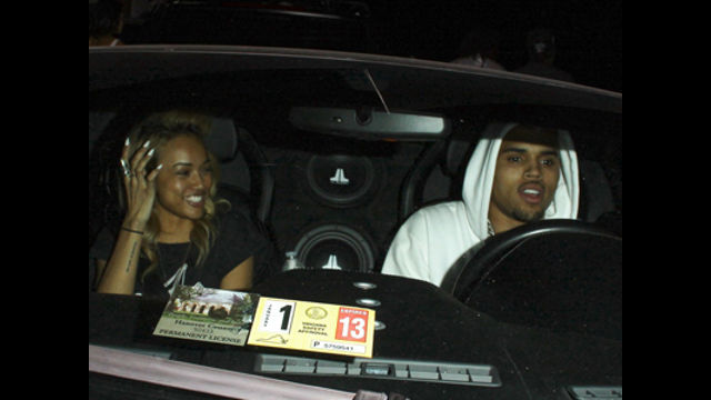 News video: Chris Brown, Karrueche Tran Involved In Car Accident