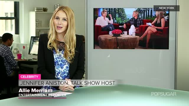 News video: Video: Jennifer Aniston Tries Talk Show Hosting! How'd She Do?
