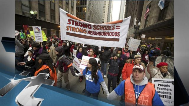 News video: CHICAGO Breaking News: Chicago School Board Votes to Close 50 Schools